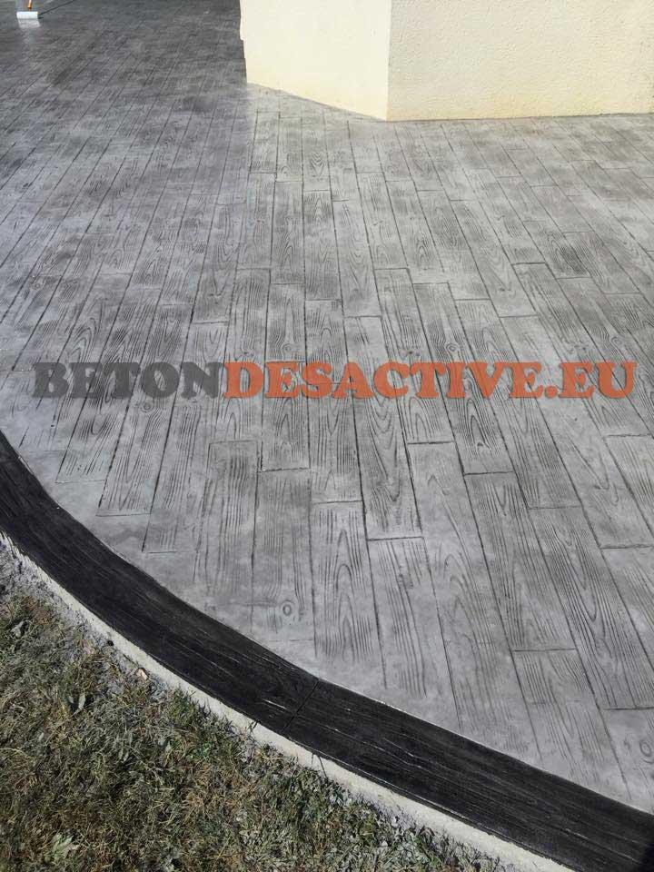 Chantiers Béton Imprimé Béton Désactivé Plancher Modern - Prix terrasse beton imprime